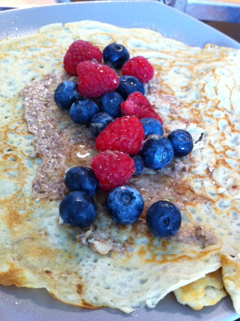 Banana Flax Bread and Gluten Free Quinoa Crepes for Meatless Monday