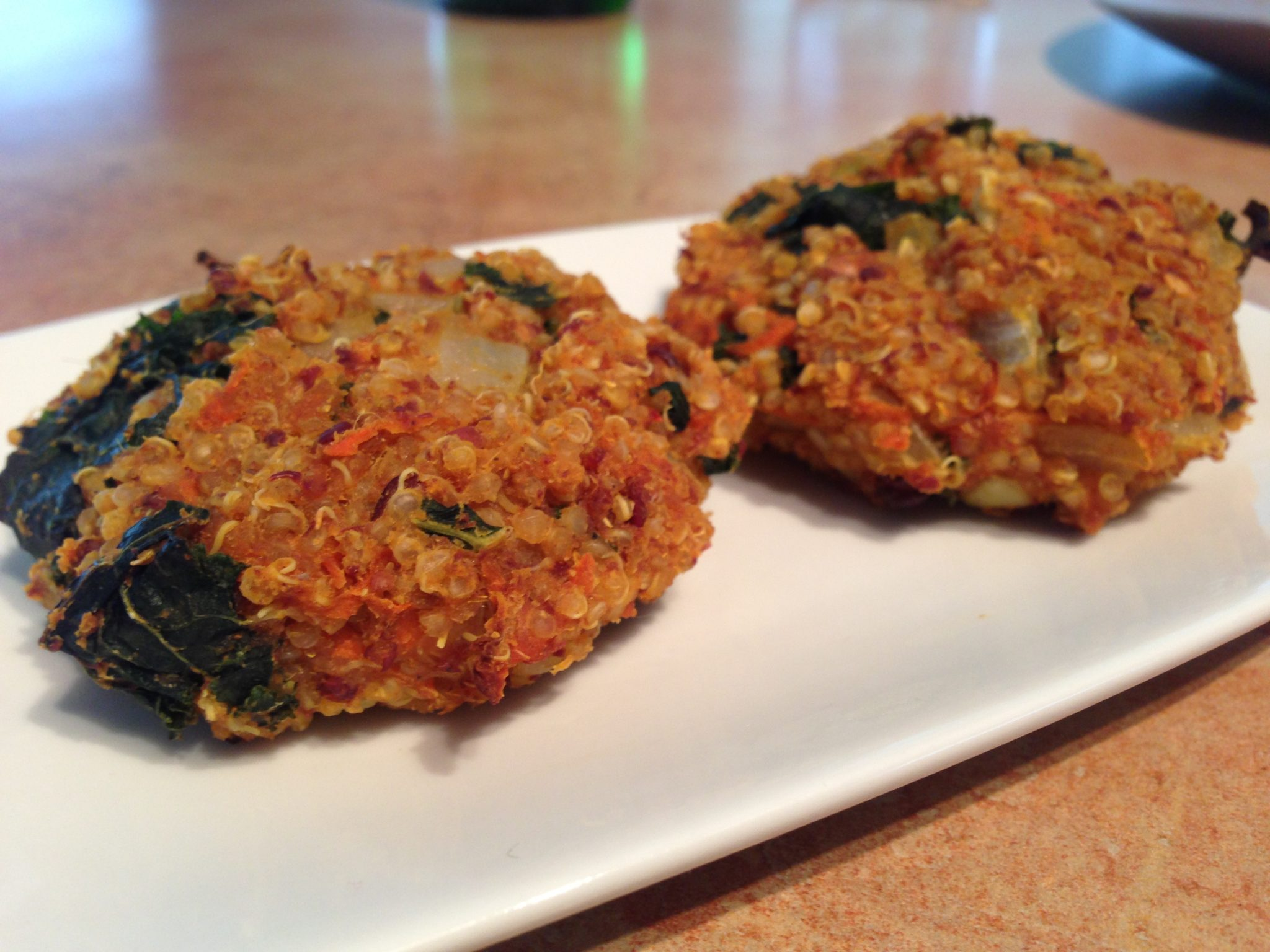 Sweet Potato and Kale Quinoa Patties for Meatless Monday!