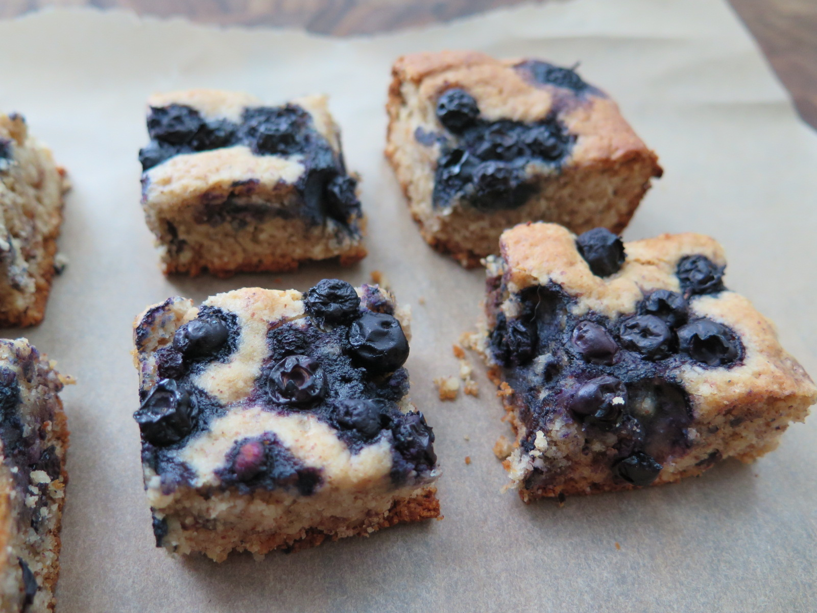 Blueberry Chocolate Chip Almond Butter Bars