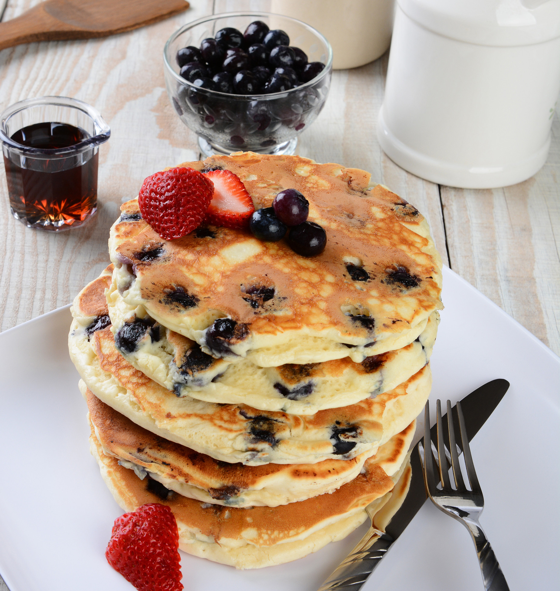 The Best Blueberry Pancakes Ever! (Gluten Free)