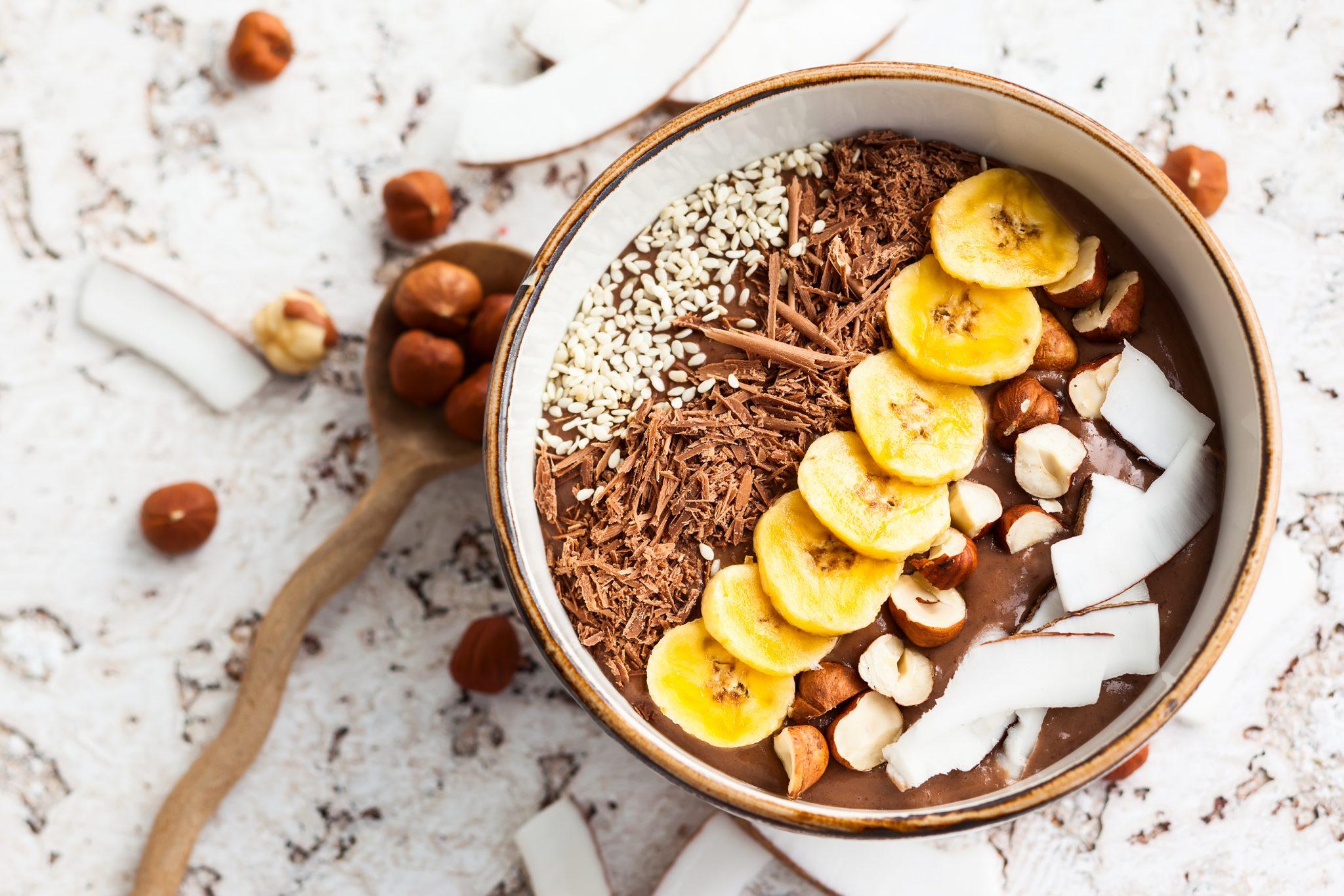 Chocolate Hazelnut Protein Power Bowl