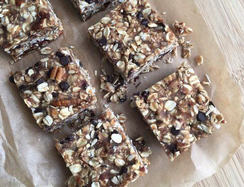 No-Bake Gluten Free Chocolate Chip Granola Bars