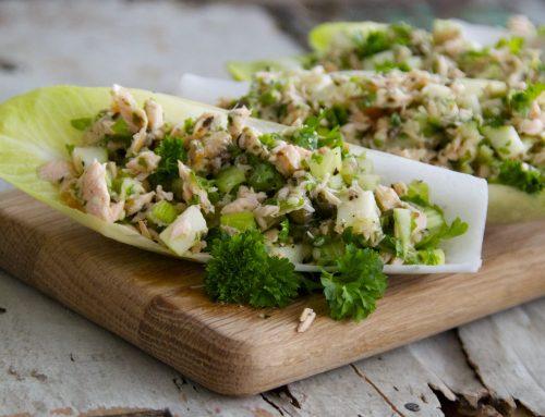 Salmon & Endive Salad Boats