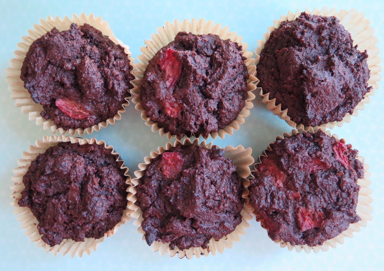 Chocolate Chip Cherry Muffins (Gluten Free and Grain Free)