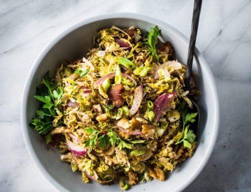 Sneak Peak Recipe: Shaved Brussels Sprouts with Bacon & Walnuts (Gluten-Free, Grain-Free, No Sugar)