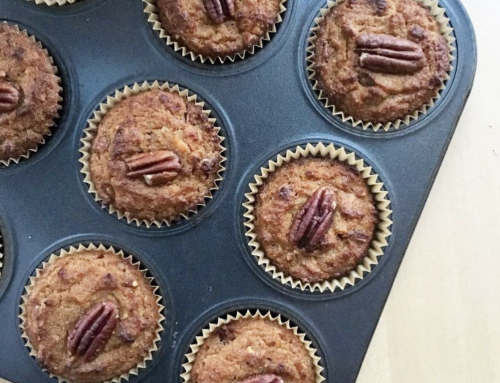 Sweet Potato Pecan Muffins (Gluten Free, Paleo, Grain Free, Low Sugar)